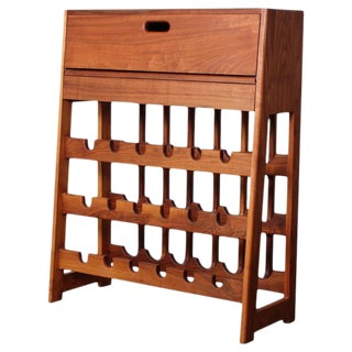 Studio Craft Wine Rack Bar Cabinet For Sale