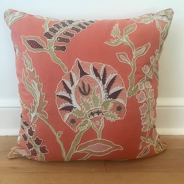 Custom Embroidered Pillows With Down Fill - A Pair - Image 2 of 7