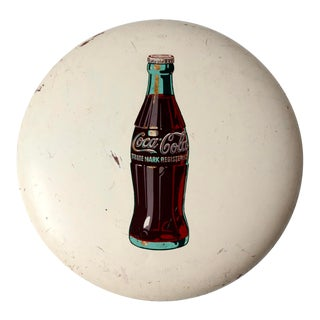 Coca-Cola Button Sign Ca. 1950 For Sale