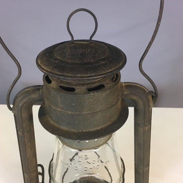 Glass Rustic Dietz Railroad Lantern For Sale - Image 7 of 8