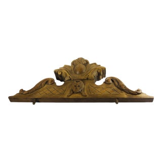 Antique Pediment Architectural Element For Sale