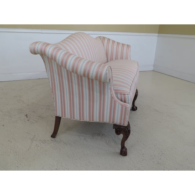 Pink Modern Southwood Ball & Claw Chippendale Upholstered Sofa For Sale - Image 8 of 13