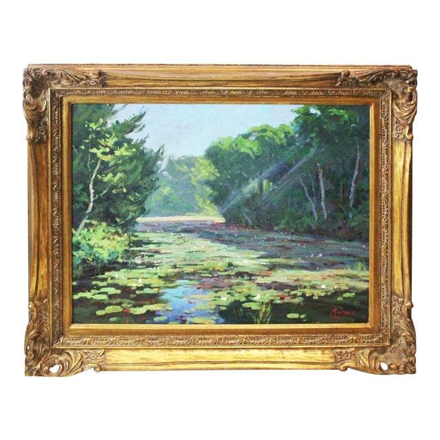Caddell Spring Marsh Oil Painting For Sale