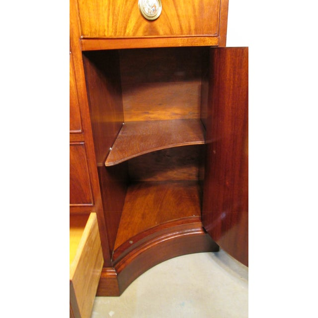 Raspberry Red 1940s Mahogany Credenza For Sale - Image 8 of 11