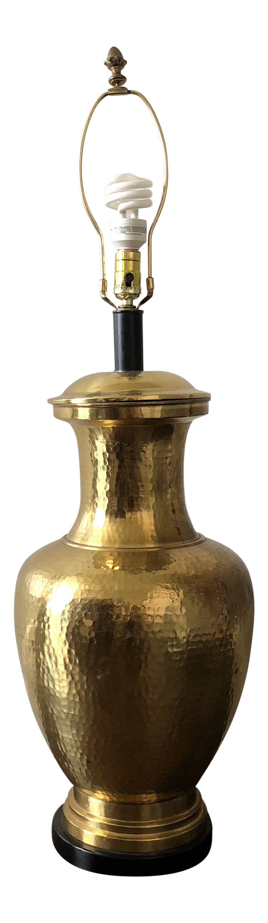 Large Vintage Brass Table Lamp Chairish