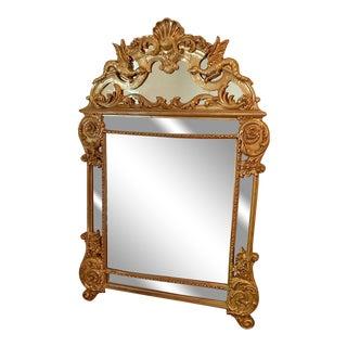 Chinoiserie Dragon Gilt Mirror For Sale
