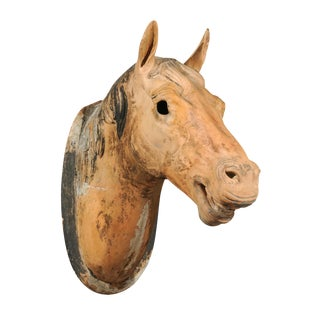 French Terra Cotta Horse Head For Sale