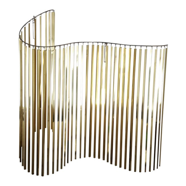 Curtis Jere Kinetic Wave Form Chrome & Brass Wall Sculpture - Image 1 of 11