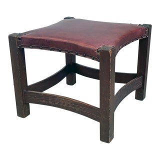 Early 20th Century Arts and Crafts Stool For Sale