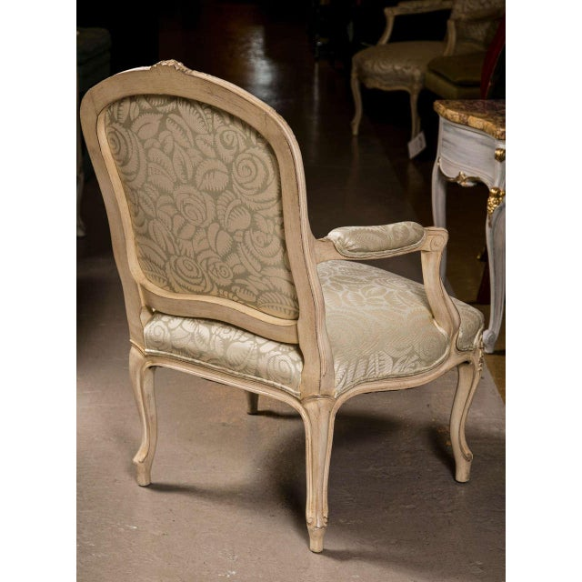 Tan French Louis XV Style Armchairs - A Pair For Sale - Image 8 of 9