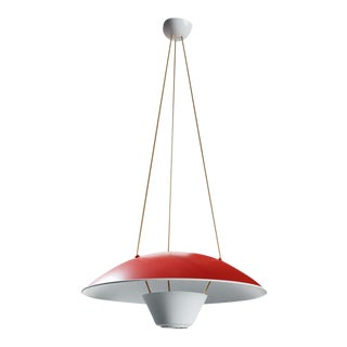 Michel Mortier M4 Suspension Lamp in Red for Disderot For Sale
