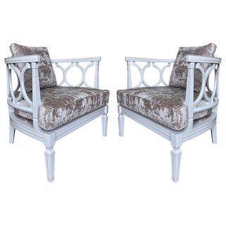 Pair of 1960s Grosfeld House Style Side Chairs