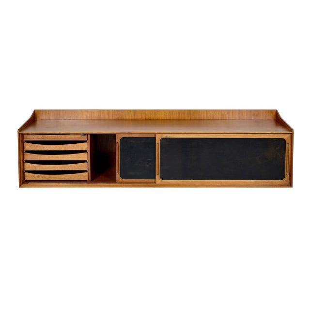 Danish Modern Danish Teak Wall Hanging Cabinet For Sale - Image 3 of 10