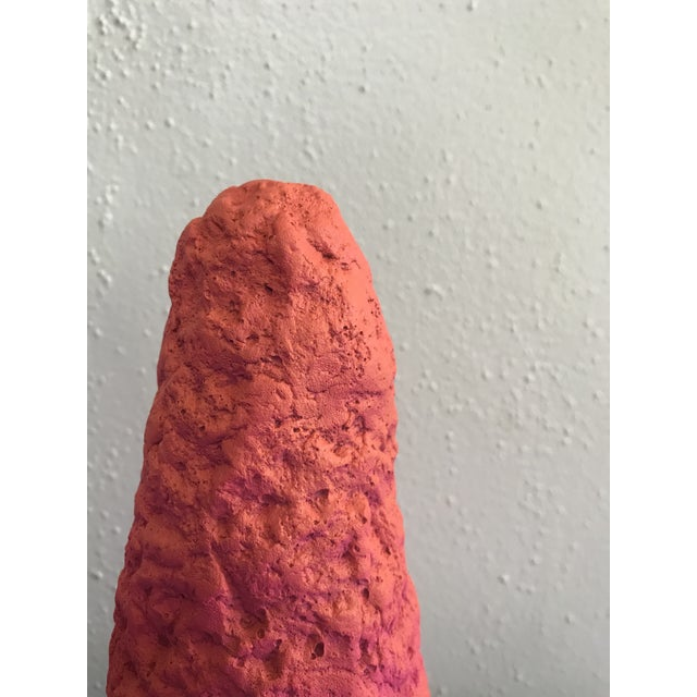Ceramic Contemporary Bright Pink Blob Pottery Sculpture For Sale - Image 7 of 9
