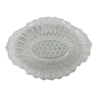Vintage Cut Glass Dish