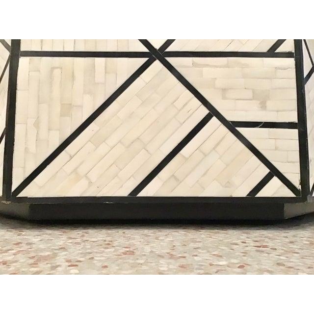 Modern Tessellated Bone Inlay Geometric Coffee Table For Sale - Image 10 of 11