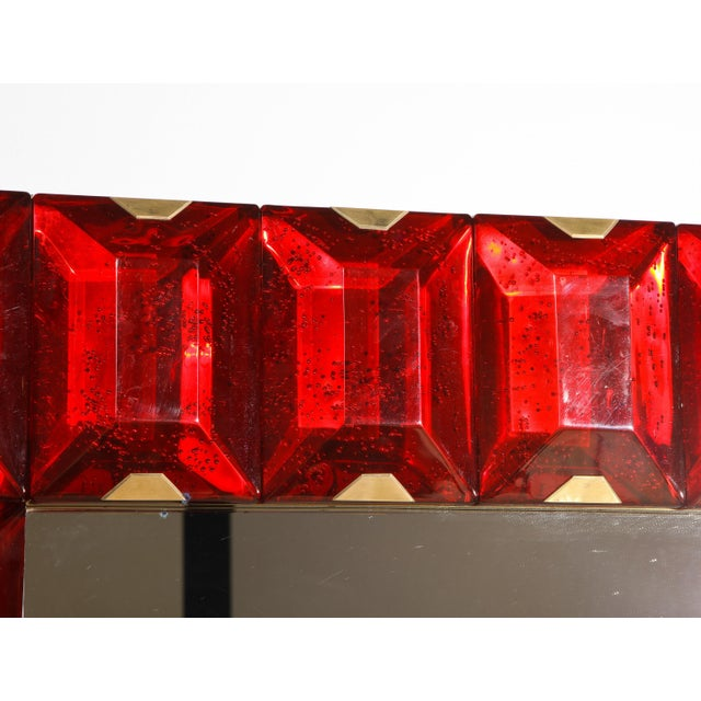 Large Murano Glass Block Mirror For Sale In New York - Image 6 of 12