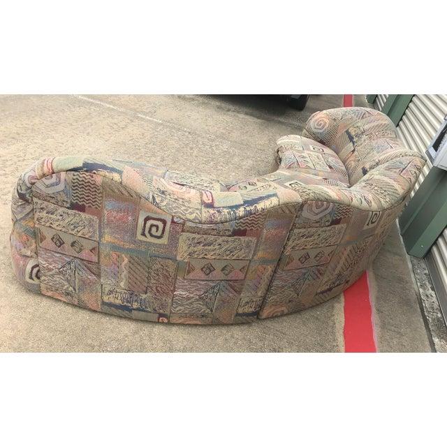 1990s Vintage Basset Curvy Sculptural Serpentine 3 Piece Sofa For Sale - Image 9 of 12