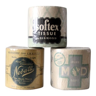 Antique Bathroom Tissue Collection - Set of 3 For Sale