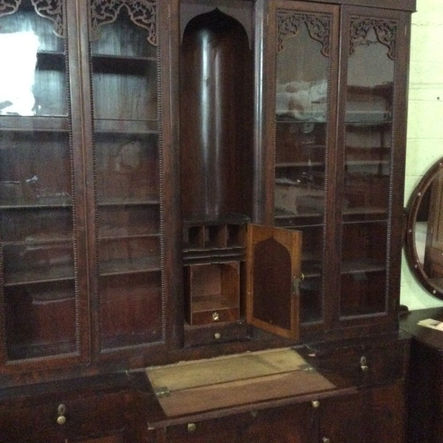 Mahogany Classical Gentleman's Secretary Bookcase For Sale - Image 4 of 8
