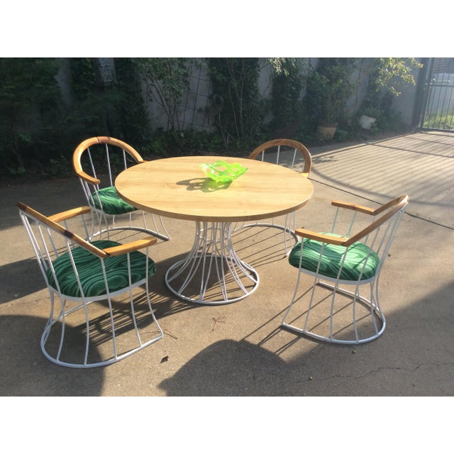 Restored Mid-Century Platner Style Round Table & Chairs For Sale - Image 4 of 12