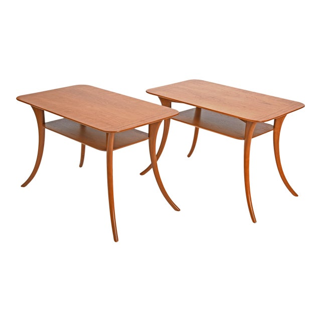 1950s Terence Harold Robsjohn-Gibbings Klismos Side Tables - a Pair For Sale