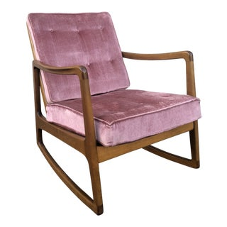 Vintage Mid Century France and Daverkosen Rocking Chair For Sale