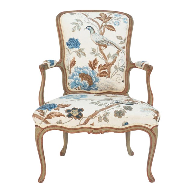 Cole Porter Louis XV Style Armchair For Sale