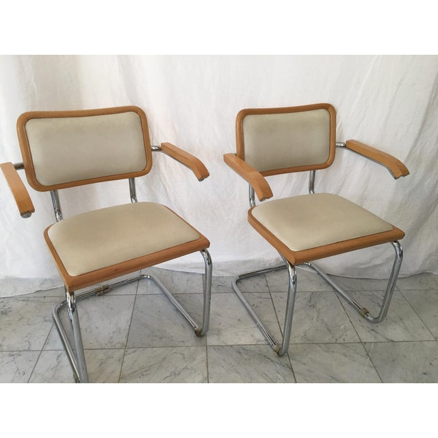 Italian Chrome Cantilever Chairs - Set of 4 For Sale - Image 4 of 10