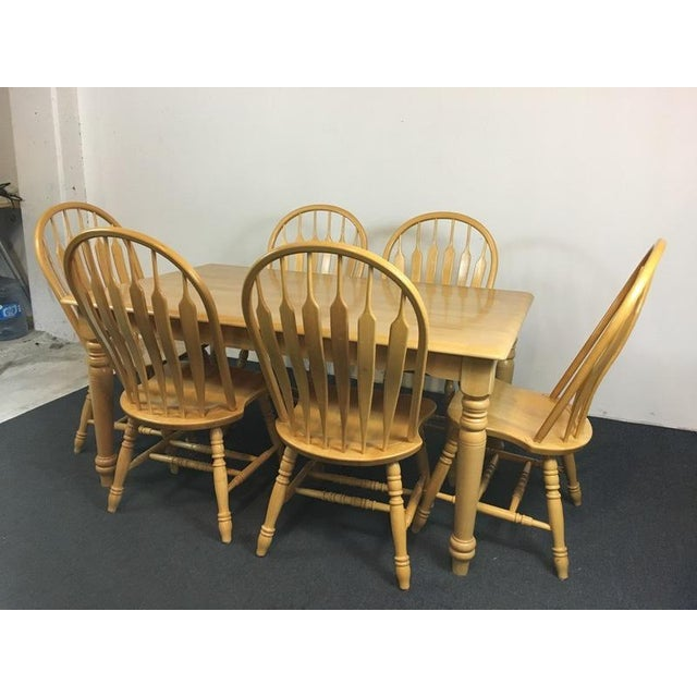 Country Carved Oak Dining Set - Image 4 of 11