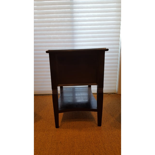 Traditional Noir Oxford Side Table For Sale - Image 3 of 3