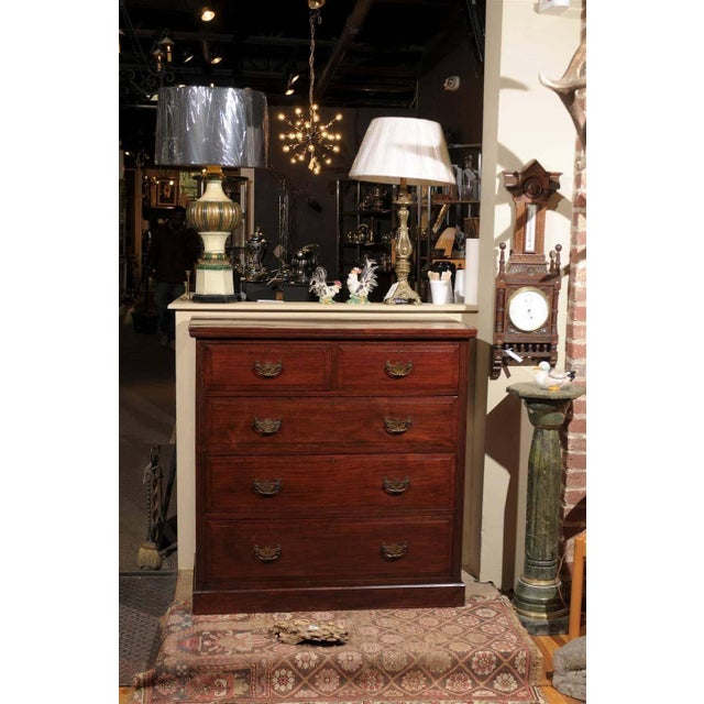 Victorian 19th Century English Mahogany Chest For Sale - Image 3 of 10