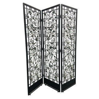 Antique Hand Wrought Iron Room Divider/Screen For Sale