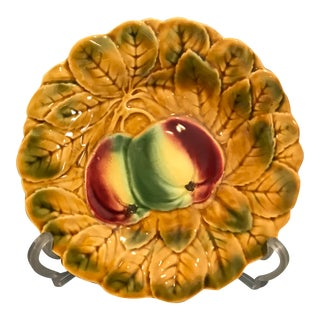 French Majolica Apple Fruit Plate