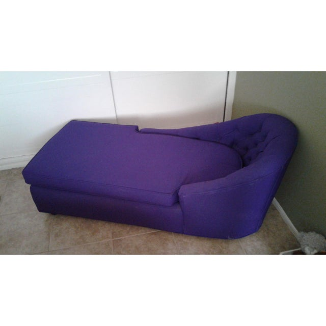 1970s Contemporary Refinished Eggplant Chaise For Sale In Los Angeles - Image 6 of 6