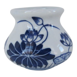 Blue & White Chinoiserie Bud Vase For Sale
