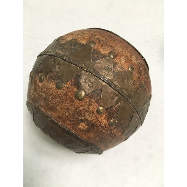 Antique Wood & Metal Bocce Balls - Set of 3 For Sale In Dallas - Image 6 of 7