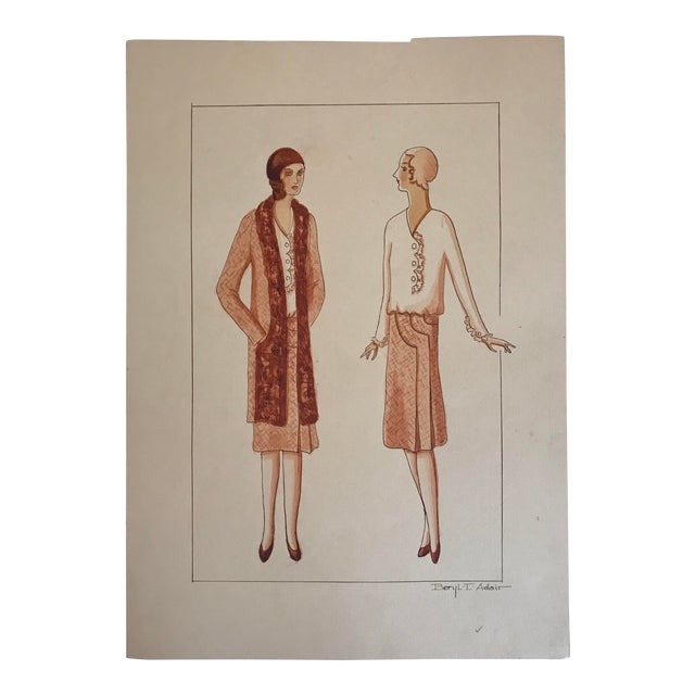 Twelve Fashion Designs by University of Washington Student, 1929 For Sale