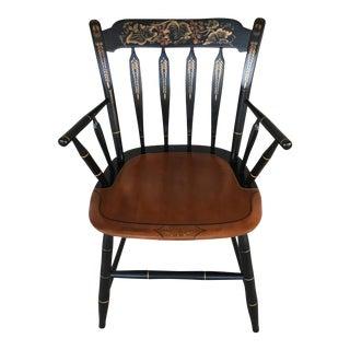 L. Hitchcock Black Harvest Arrow Back Arm Chair