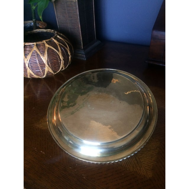 1980s 1980s Brass Tray With Handles For Sale - Image 5 of 6