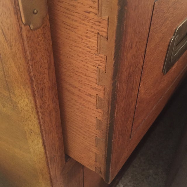 Brass Drexel Wood Campaign Dresser For Sale - Image 7 of 7