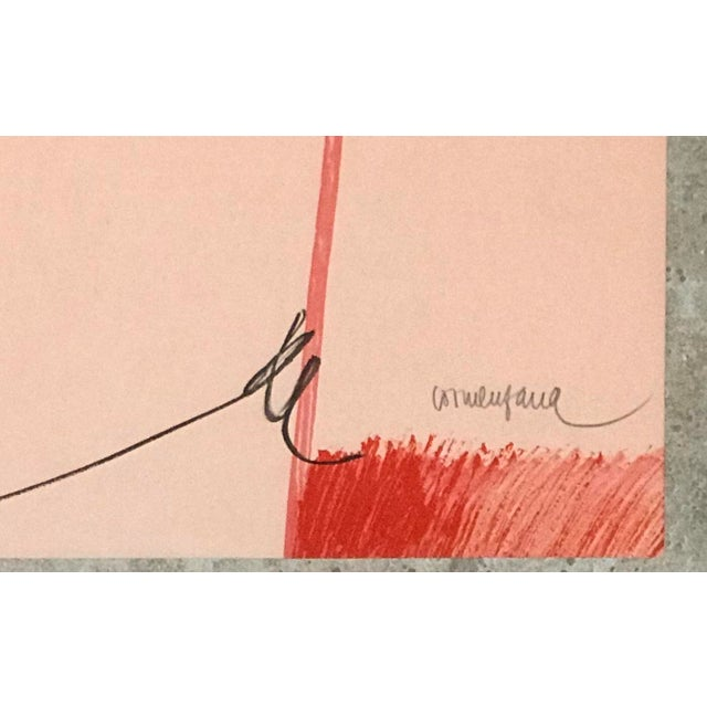 """Abstract Expressionism 1979 Enric Cormenzana """"Zaragoza"""" Lithograph Hand Signed & Numbered For Sale - Image 3 of 6"""