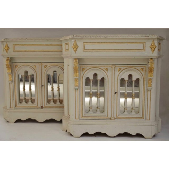Green Antique Napoleon III Console For Sale - Image 8 of 9