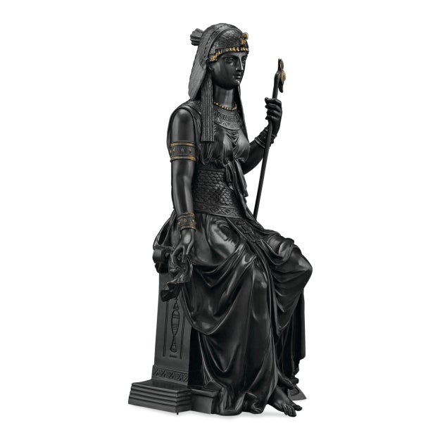 Egyptian Revival Bronze Isis by Emile-louis Picault For Sale - Image 3 of 7