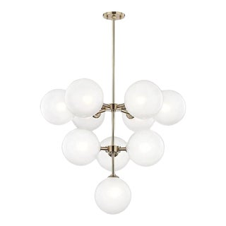 Contemporary Loop Base Led Lamp Glass Ashleigh Chandelier For Sale