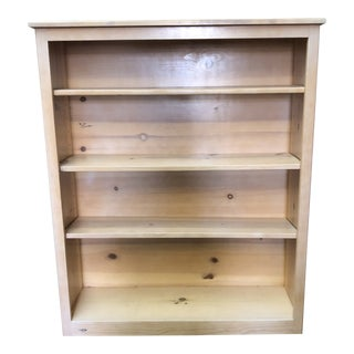 Natural Pine Bookcase For Sale