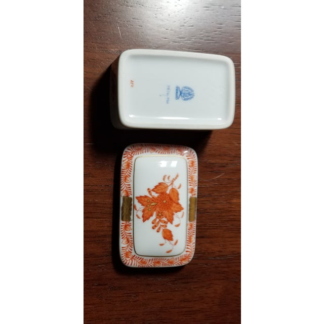 Asian Herend Chinese Bouquet Trinket Box For Sale - Image 3 of 6