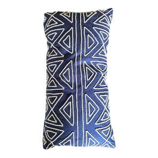 Beaded Cobalt Blue Pillow For Sale