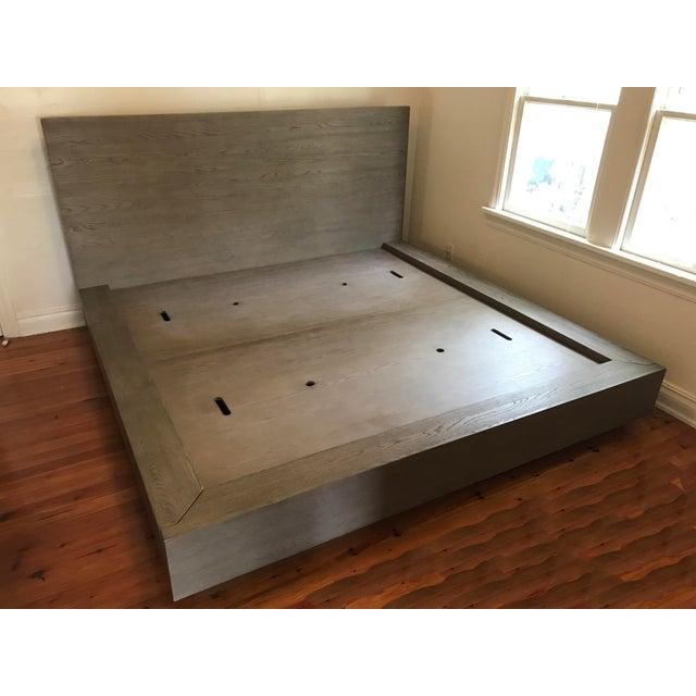 Van Thiels for Restoration Hardware Oak King Machinto Bed For Sale - Image 11 of 11