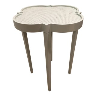 Oomph Tini IV 'Rainwashed' Lacquer Painted Raffia Top Side Table